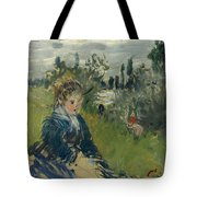 At The Meadow. Vetheuil Tote Bag