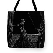 At The Natural Stage. Black Art Tote Bag by Jenny Rainbow