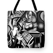 At The Piano Bar Tote Bag by Anthony Falbo