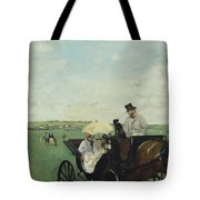 At The Races In The Countryside Tote Bag