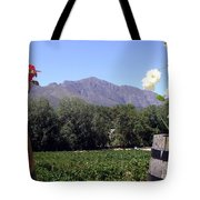 At The Rickety Bridge Winery Tote Bag by Barbie Corbett-Newmin