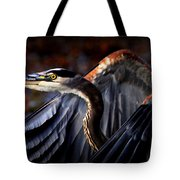 At Waters Edge - Great Blue Tote Bag