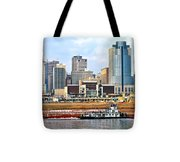 At Work On The Ohio River Tote Bag