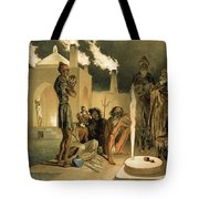 Ateseh-gah, Indians Devoted To The Cult Tote Bag