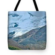 Athabasca Glacier Along Icefields Parkway In Alberta Tote Bag