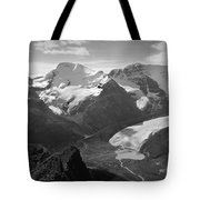 T-303504-bw-athabasca Glacier In 1957  Tote Bag
