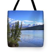 Athabasca River Scenery Tote Bag
