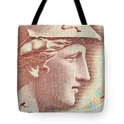 Athena On Banknote Tote Bag