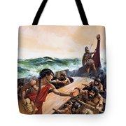 Athenian Trireme Tote Bag