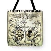 Athletics Vs Chicago 1929 World Series Tote Bag