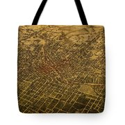 Atlanta Georgia City Schematic Street Map 1892 On Recovered Worn Parchment Paper Tote Bag