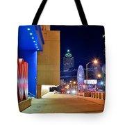 Atlanta Outside Cnn Tote Bag