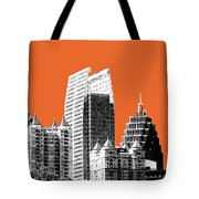Atlanta Skyline 2 - Coral Tote Bag