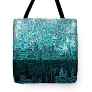 Atlanta Skyline Abstract 2 Tote Bag