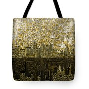 Atlanta Skyline Abstract Tote Bag