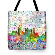 Atlanta Skyline Watercolor 3 Tote Bag