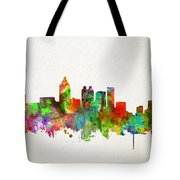 Atlanta Skyline Watercolor Tote Bag