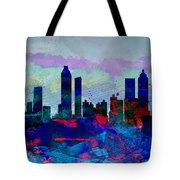 Atlanta Watercolor Skyline Tote Bag