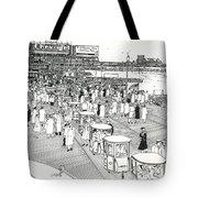 Atlantic City Boardwalk 1940 Tote Bag