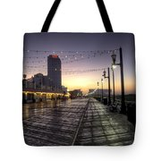 Atlantic City Boardwalk In The Morning Tote Bag
