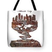 Atlantic City Rusty Skyline Tote Bag