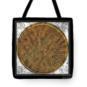 Atlantic Codfish And Jigger - Brass Etching Tote Bag