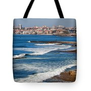 Atlantic Ocean Coast In Cascais And Estoril Tote Bag