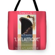 French Travel Poster Advertisement Atlantique Tote Bag