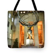 Atlas In Rockefeller Center Tote Bag