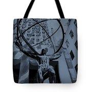 Atlas Rockefeller Center Poster Tote Bag