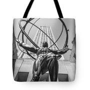 Atlas Statue Rockefeller Center Tote Bag