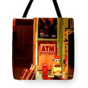 A T M And Sled Tote Bag