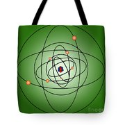 Atomic Structure Model Tote Bag by Science Source