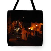 Atop Calle Hostos At Night Horizontal Tote Bag