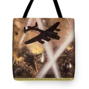 Attack Begins In Factory Propaganda Poster From World War II Tote Bag
