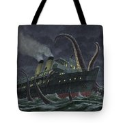 Attack Of Giant Squid Tote Bag