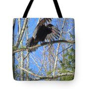 Attack Of The Turkey Vulture Tote Bag