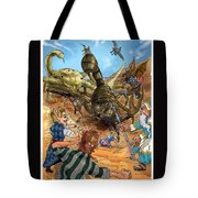 Attacked By Scorpions Tote Bag