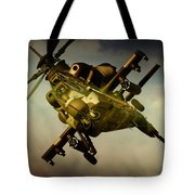 Attacking Rooivalk Tote Bag