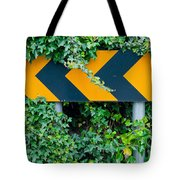 Attention Road Sign  Tote Bag