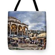 Attiki Metro Station Athens Tote Bag