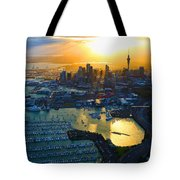 Auckland Oil On Canvaz Tote Bag
