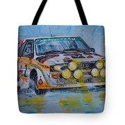 Audi Quattro On The Rocks Tote Bag
