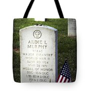 Audie Murphy - Most Decorated Tote Bag