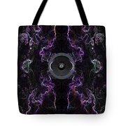 Audio Purple Neon Tote Bag