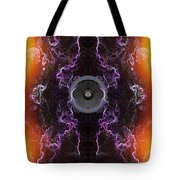 Audio Purple Orange Tote Bag
