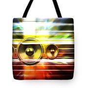 Audio Streaks Tote Bag