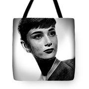 Audrey Hepburn - Black And White Tote Bag