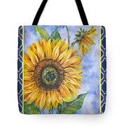 Audrey's Sunflower With Boarder Tote Bag