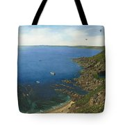 August Afternoon At Whitsand Bay Cornwall Tote Bag